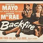 Dane Clark, Viveca Lindfors, Gordon MacRae, and Virginia Mayo in Backfire (1950)
