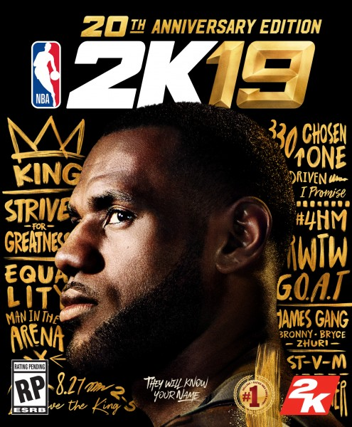 LeBron James in NBA 2k19 (2018)