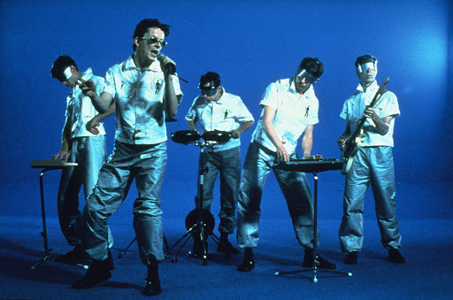 Mark Mothersbaugh, Bob Casale, Gerald Casale, Robert Mothersbaugh, and Alan Myers in Devo: The Day My Baby Gave Me a Surprise (1979)