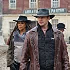 Vivica A. Fox and Ian Ziering in The Last Sharknado: It's About Time (2018)