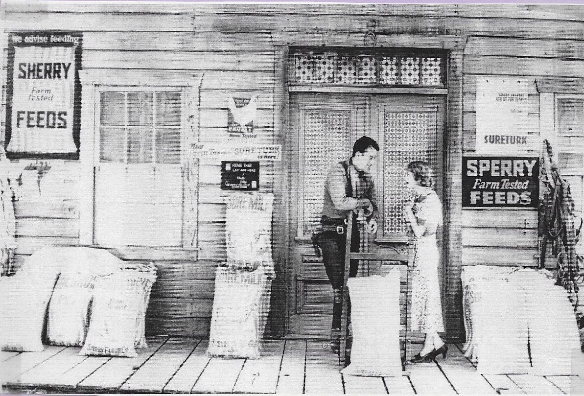 John Wayne and Sheila Terry in The Lawless Frontier (1934)