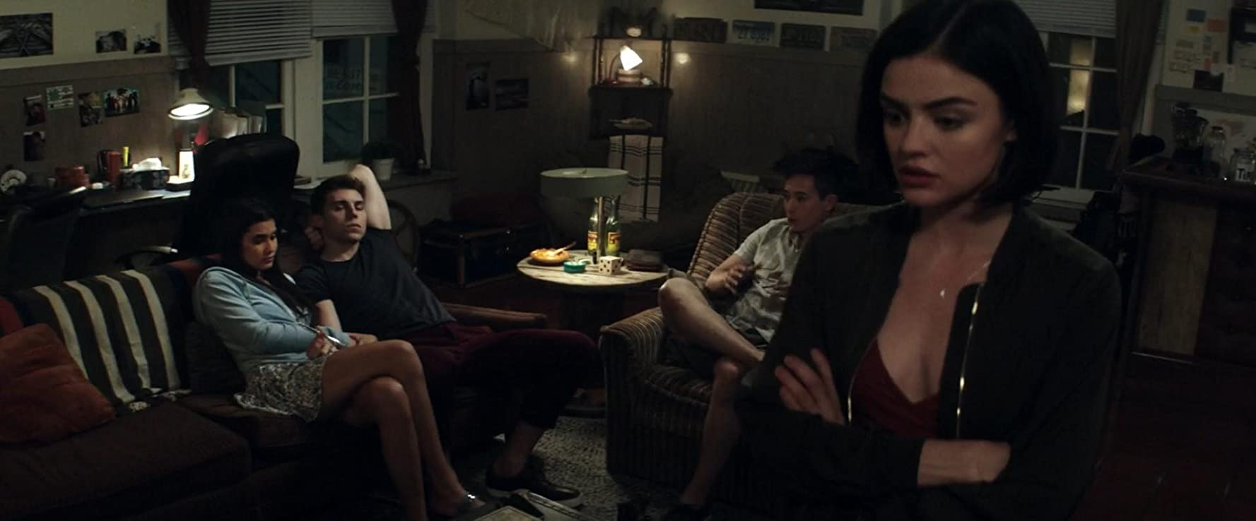 Nolan Gerard Funk, Lucy Hale, Sophia Ali, and Hayden Szeto in Truth or Dare (2018)