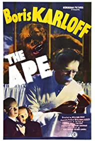 Boris Karloff, Ray Corrigan, Gene O'Donnell, and Maris Wrixon in The Ape (1940)
