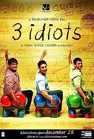 Sharman Joshi, Aamir Khan, and Madhavan in 3 Idiots (2009)