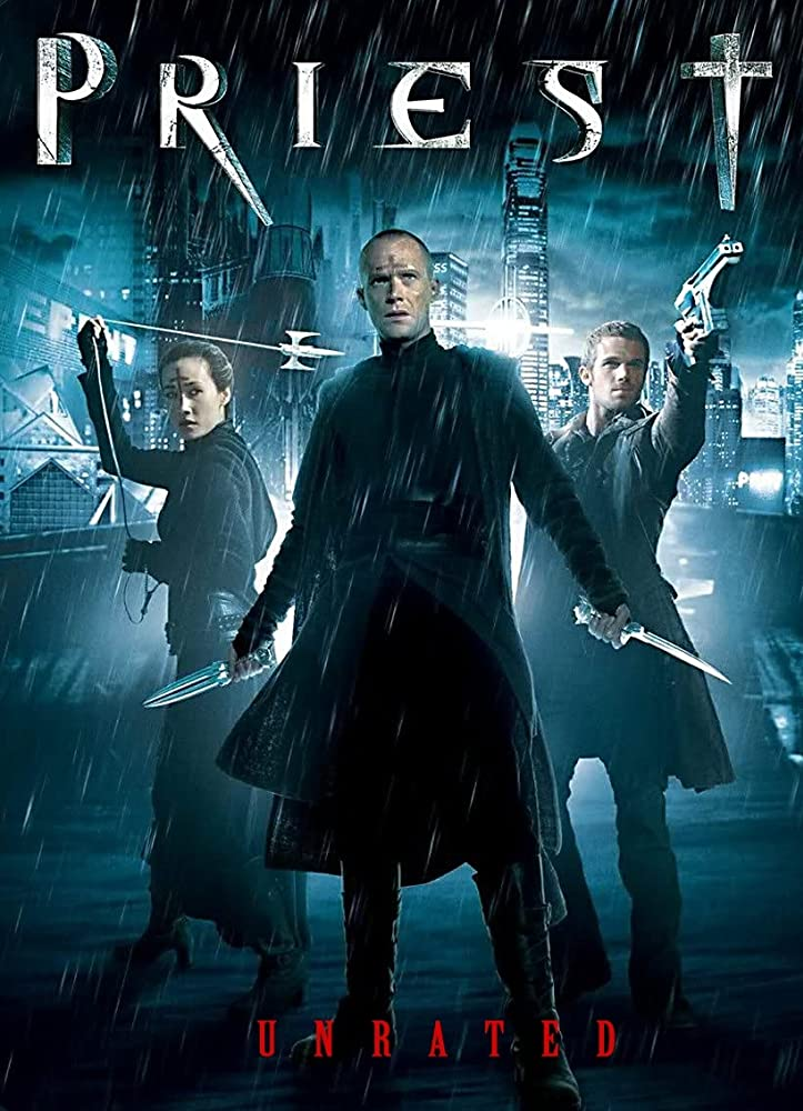 Paul Bettany, Maggie Q, and Cam Gigandet in Priest (2011)