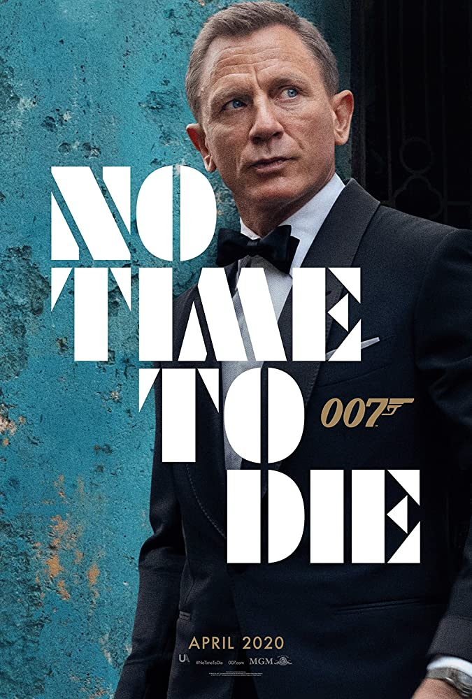 Poster film No Time To Die (2020).