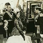 Bette Davis, Brian Aherne, Donald Crisp, and Gilbert Roland in Juarez (1939)