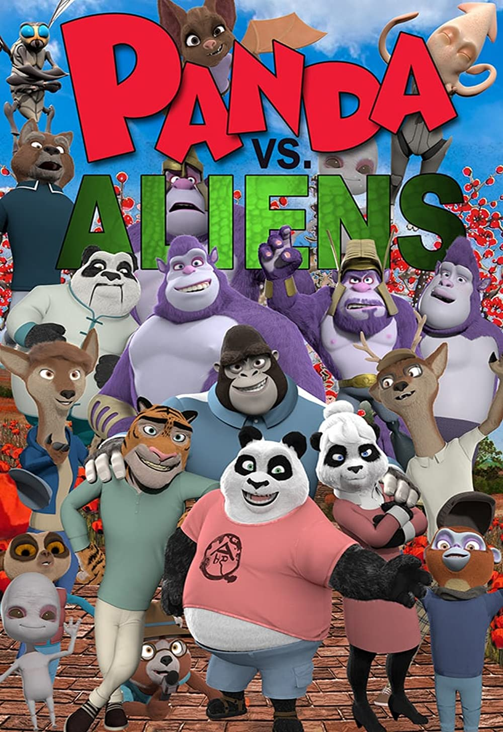 Panda vs. Aliens 2021 English 720p HDRip 800MB