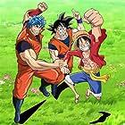 Masako Nozawa, Ryôtarô Okiayu, and Mayumi Tanaka in Dream 9 Toriko x One Piece x Dragon Ball Z Super Collaboration Special!! (2013)