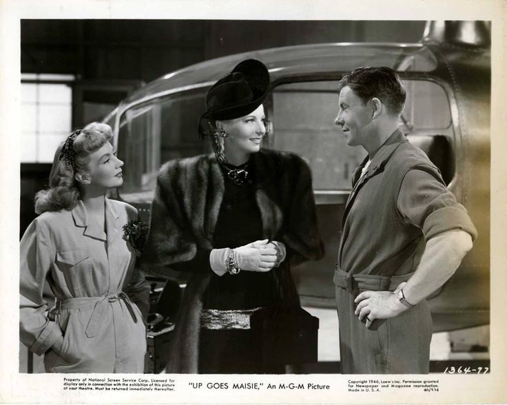 Hillary Brooke, George Murphy, and Ann Sothern in Up Goes Maisie (1946)