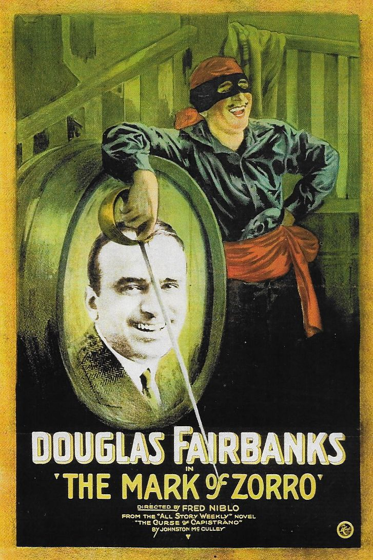 Douglas Fairbanks in The Mark of Zorro (1920)