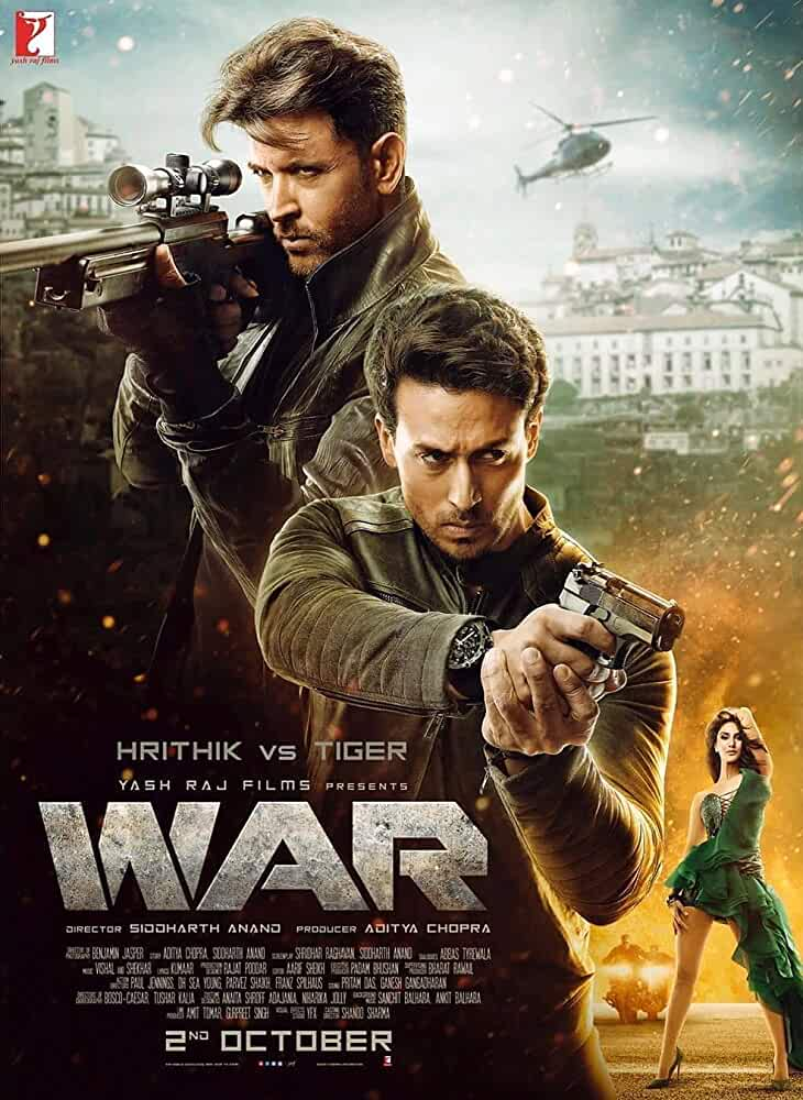 WAR (2019) Hindi Movie 480p HDRip x264 AAC 5.1 ESubs 500MB