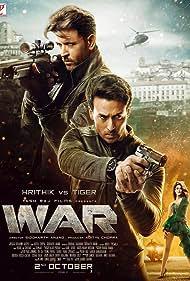 Hrithik Roshan, Vaani Kapoor, and Tiger Shroff in War (2019)