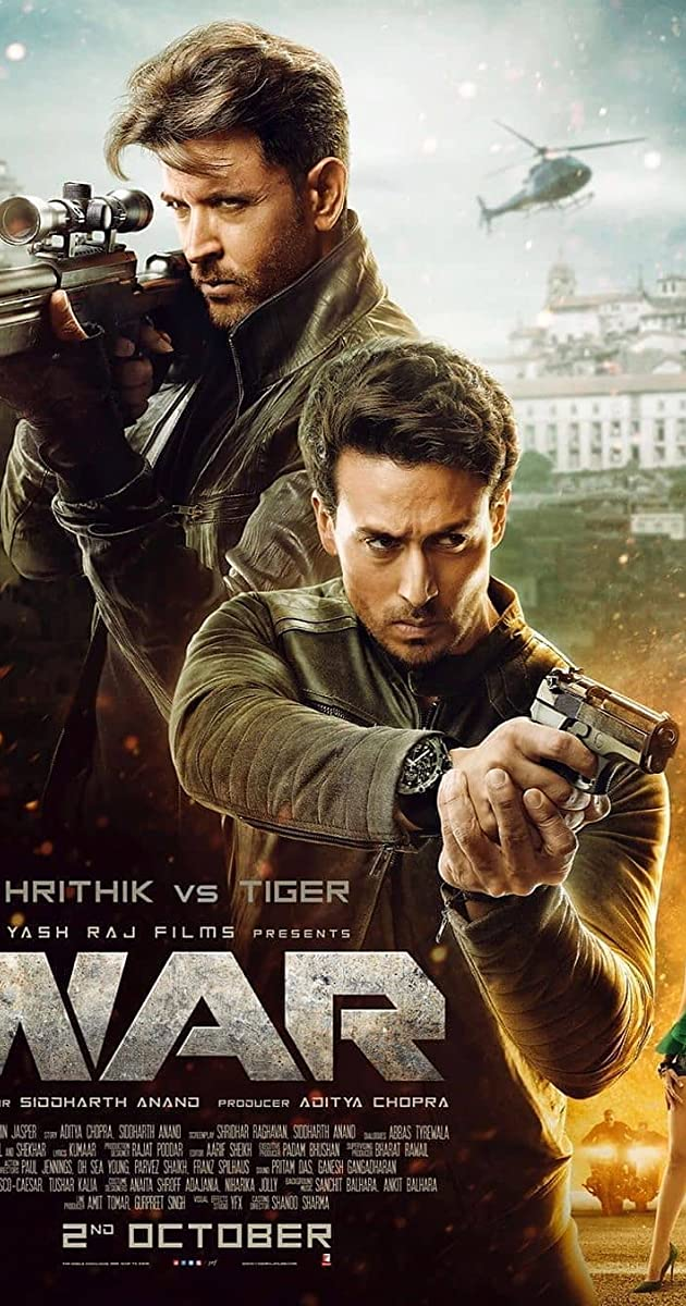 War 2019 Hindi 720p AMZN WEBRip x264 AAC 5.1 ESubs - LOKiHD - Telly