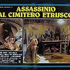 Elvire Audray and Giovanni Lombardo Radice in Assassinio al cimitero etrusco (1982)