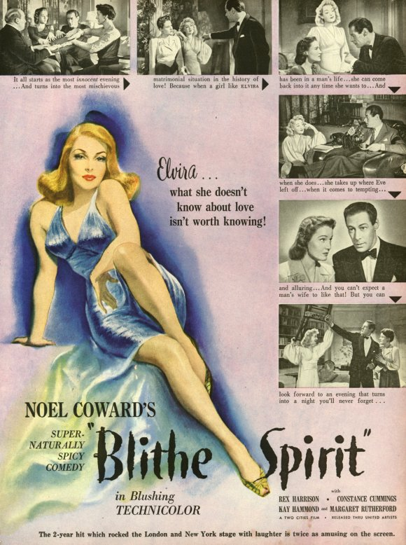 blithe spirit play summary