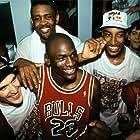 Michael Jordan, Scottie Pippen, Horace Grant, and John Paxson in The Last Dance (2020)