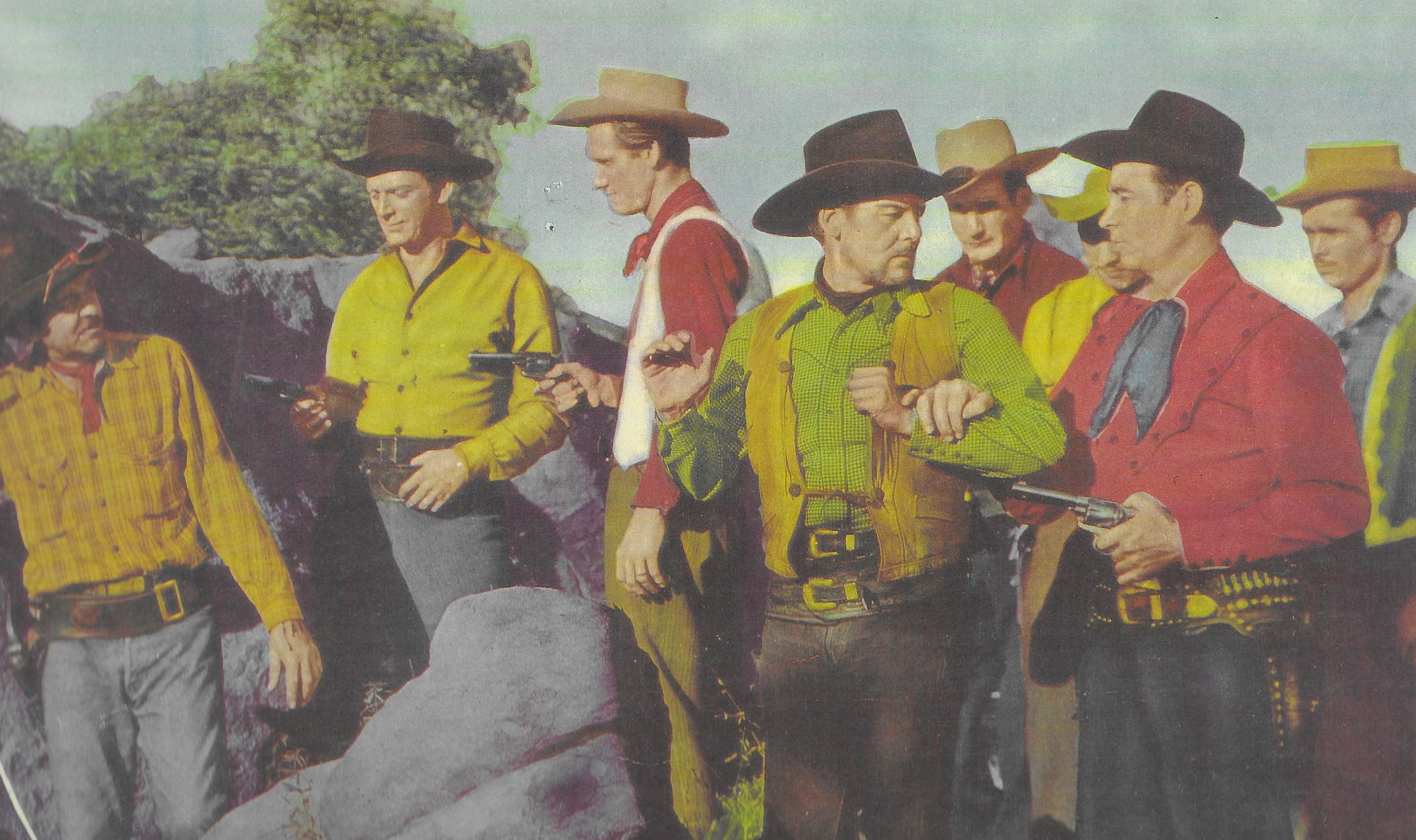 Freddie Daniel, Eddie Dean, Bob Duncan, J.D. Sumner, Eddie Wallace, and M.H. Richman in Range Beyond the Blue (1947)