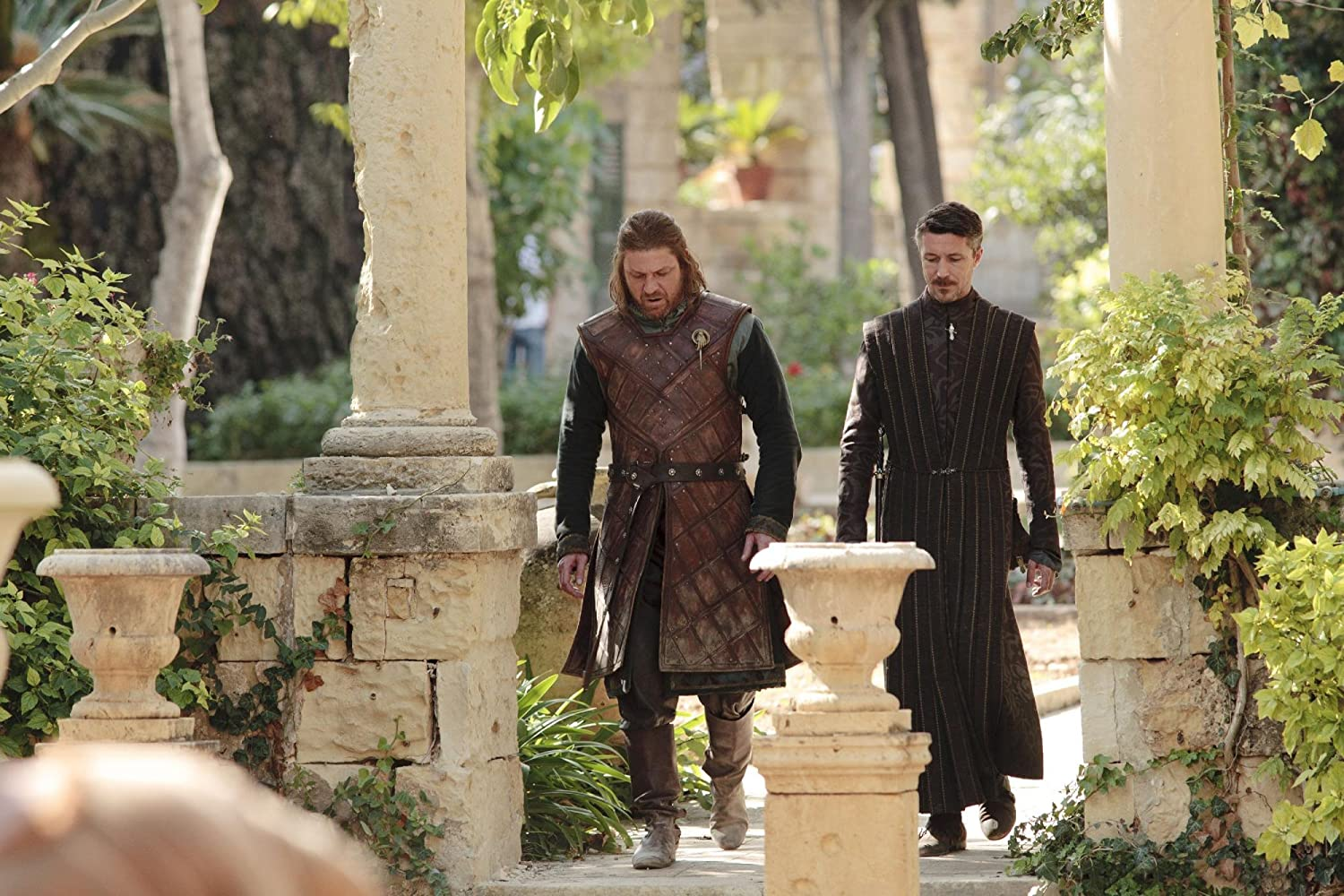 Sean Bean and Aidan Gillen in Game of Thrones (2011)