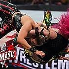Kanako Urai and Demi Bennett in WrestleMania 37 (2021)
