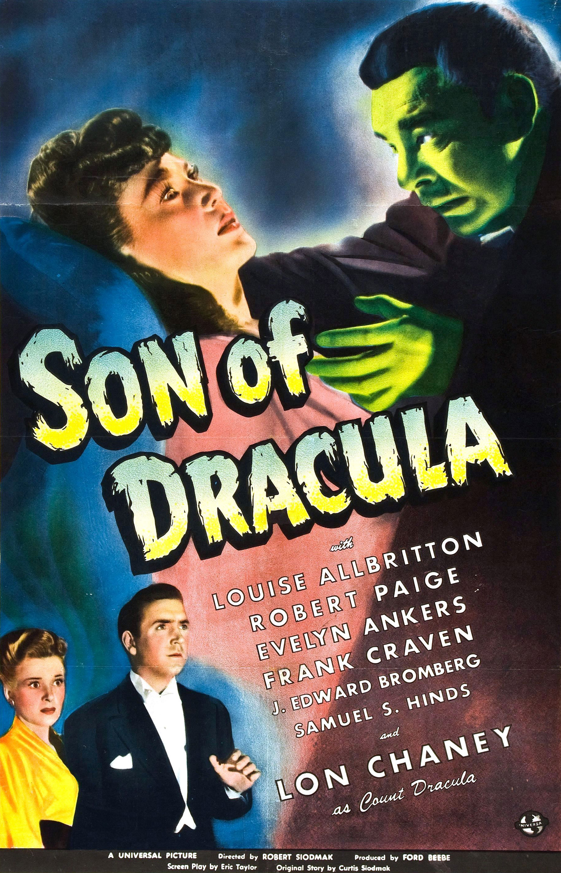 Lon Chaney Jr., Louise Allbritton, and Robert Paige in Son of Dracula (1943)