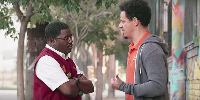 Lil Rel Howery and Eric André in Bad Trip (2020)