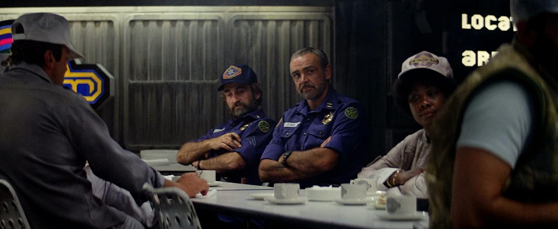 Sean Connery and James Sikking in Outland (1981)