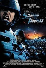Dina Meyer and Casper Van Dien in Starship Troopers (1997)