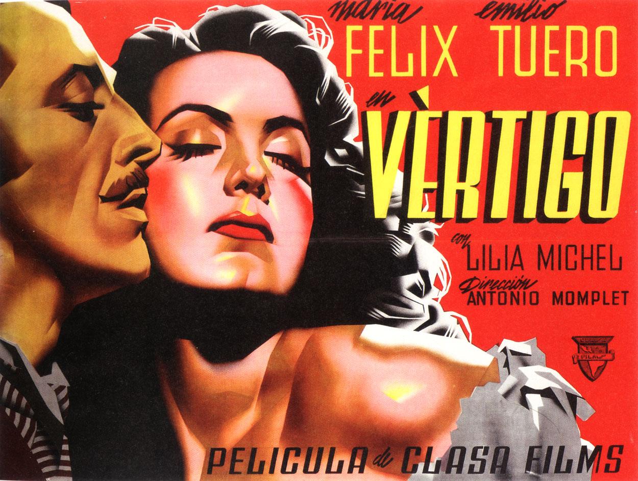María Félix and Emilio Tuero in Vértigo (1946)