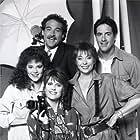 Pam Dawber, Joel Brooks, David Naughton, Jenny O'Hara, and Rebecca Schaeffer in My Sister Sam (1986)