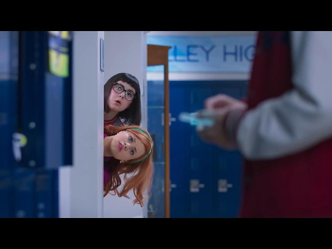 Sarah Gilman, Sarah Jeffery, and Evan Castelloe in Daphne & Velma (2018)