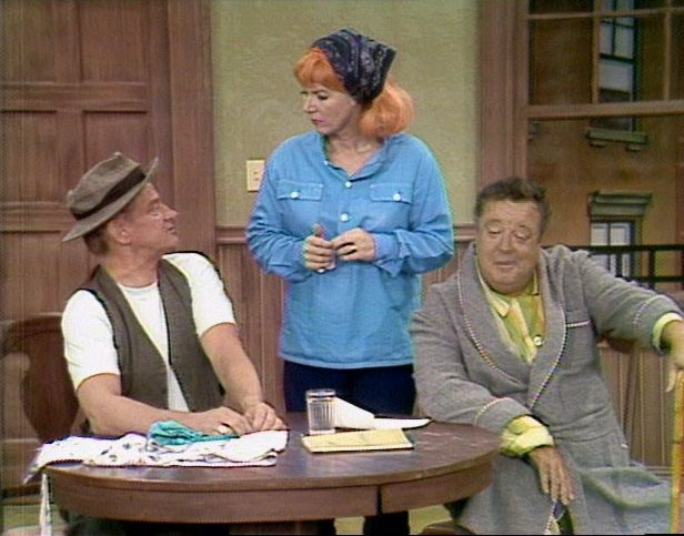 Jackie Gleason, Art Carney, and Sheila MacRae in The Jackie Gleason Show (1966)
