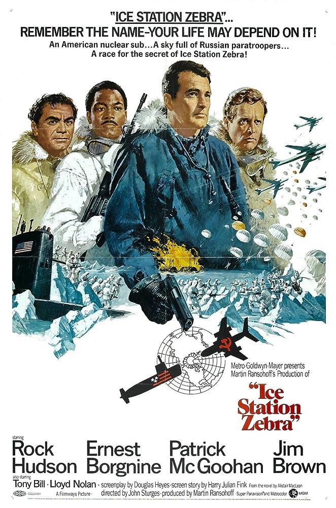 Ernest Borgnine, Jim Brown, Rock Hudson, and Patrick McGoohan in Ice Station Zebra (1968)