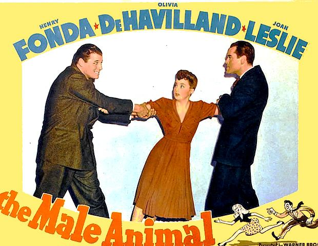 Olivia de Havilland, Henry Fonda, and Jack Carson in The Male Animal (1942)