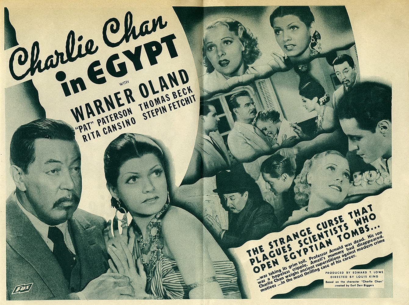 Rita Hayworth, Thomas Beck, Warner Oland, Pat Paterson, and Jameson Thomas in Charlie Chan in Egypt (1935)