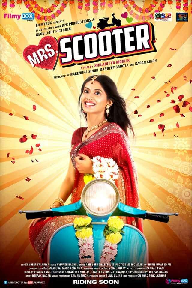 Mrs. Scooter (2015) Hindi 720p HEVC HDRip x265 ESubs [450MB] Full Bollywood Movie