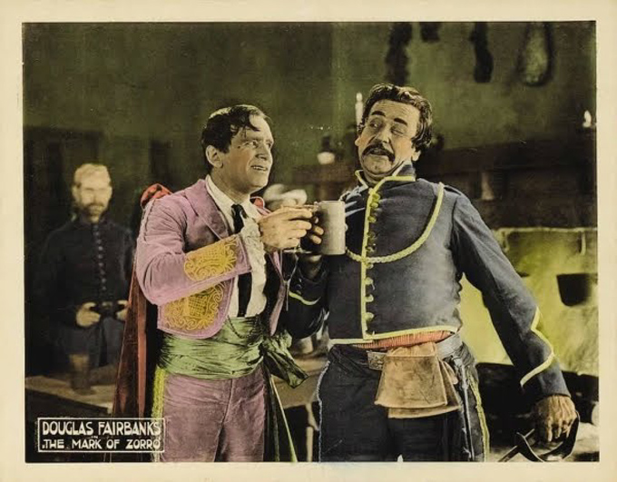 Douglas Fairbanks and Noah Beery in The Mark of Zorro (1920)