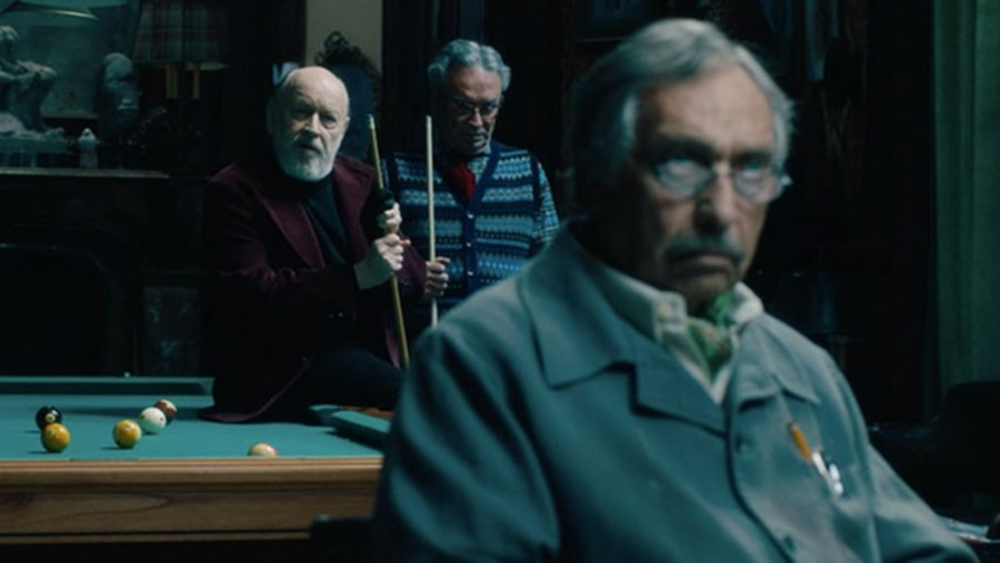Luis Brandoni, Oscar Martínez, and Marcos Mundstock in El Cuento de las Comadrejas (2019)