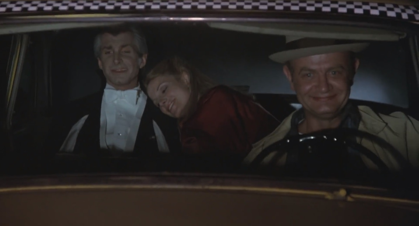 George Hamilton, Stanley Brock, and Susan Saint James in Love at First Bite (1979)