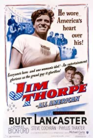 Burt Lancaster and Phyllis Thaxter in Jim Thorpe -- All-American (1951)