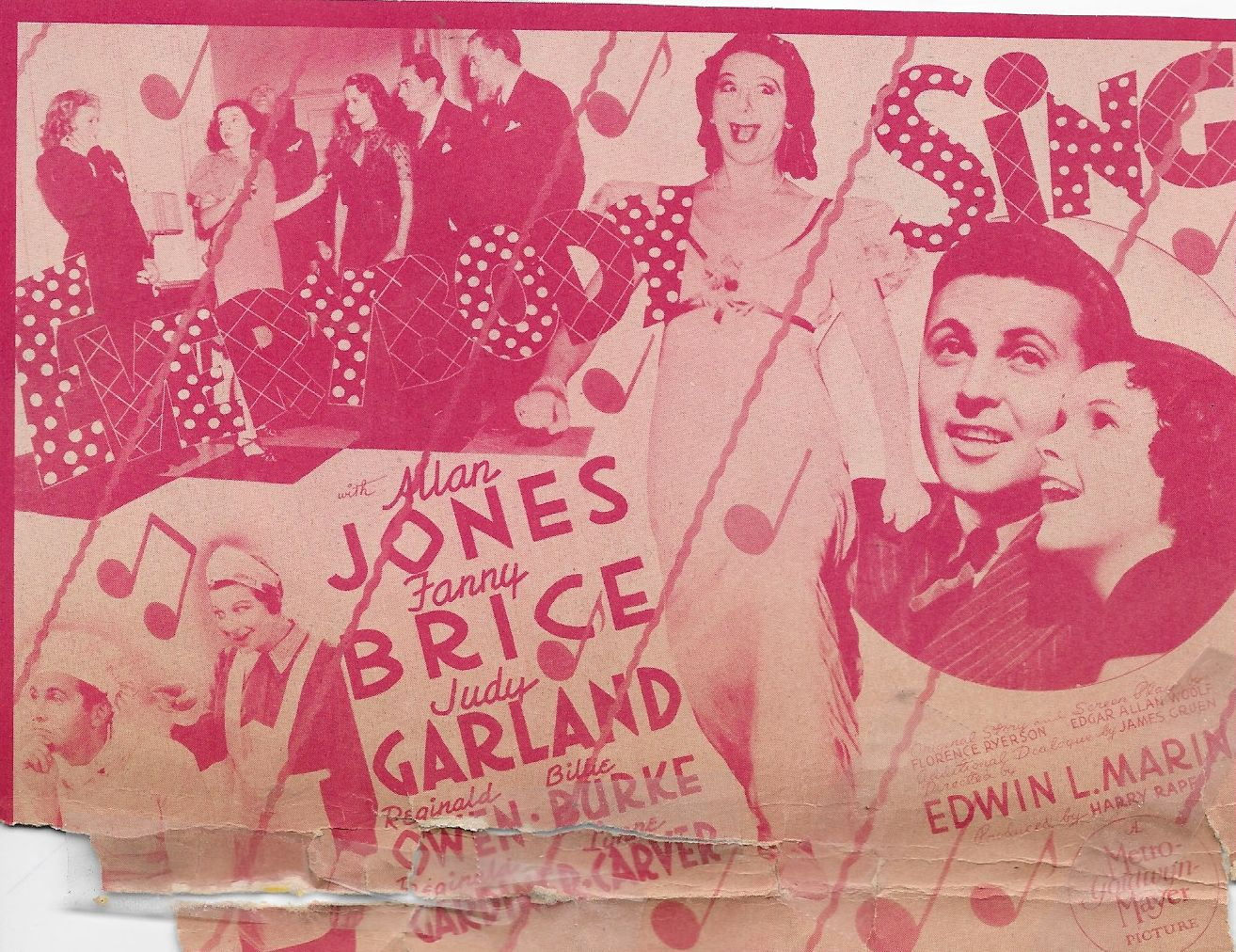 Judy Garland, Billie Burke, Fanny Brice, Lynne Carver, Allan Jones, Adia Kuznetzoff, and Reginald Owen in Everybody Sing (1938)