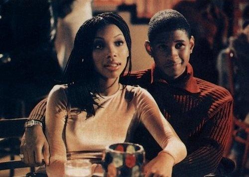 Brandy Norwood and Usher in Moesha (1996)