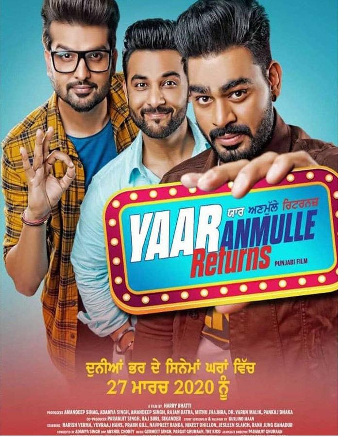Yaar Anmulle Returns (2021) Punjabi Full Movie 480p PreDvDRip x264 400MB Download