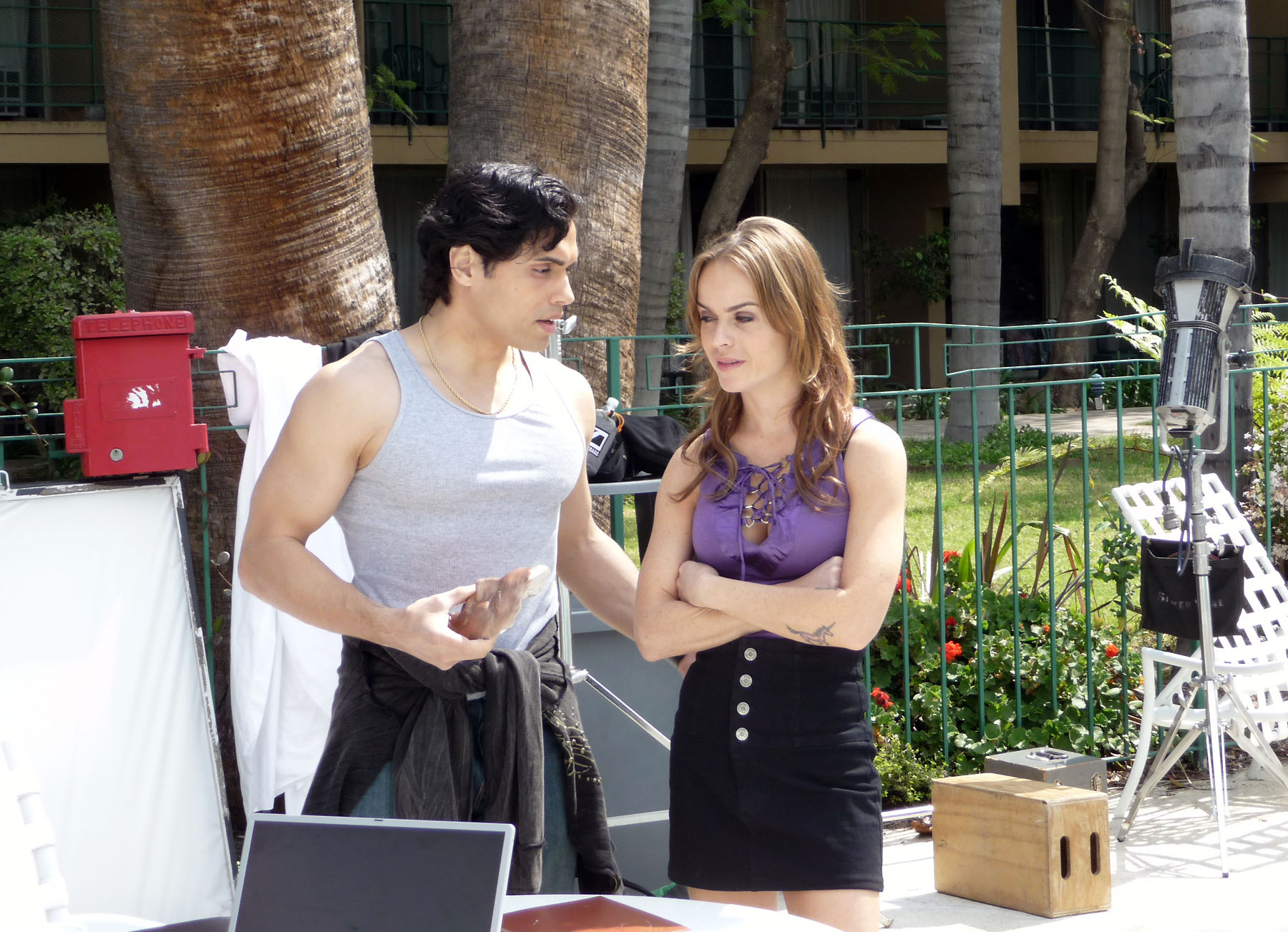 Danny Arroyo and Taryn Manning in Groupie (2010)