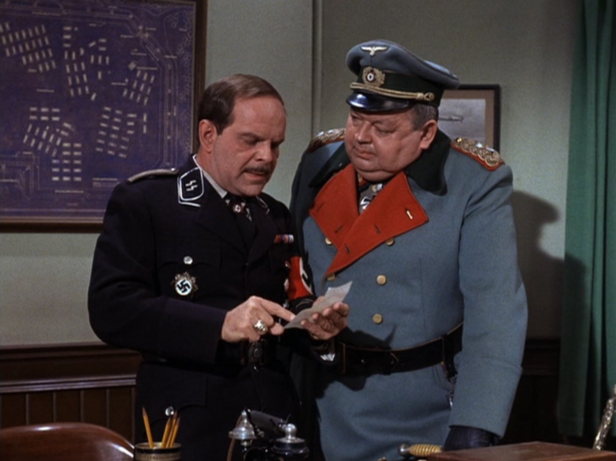 Leon Askin and Howard Caine in Hogans Heroes 1965