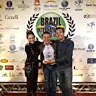 Fábio Brandão, Raphaela Palumbo, and Raffa Tamburini at an event for Fim (2016)