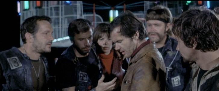 Jack Nicholson, Richard Anders, John Garwood, Adam Roarke, and Sabrina Scharf in Hells Angels on Wheels (1967)