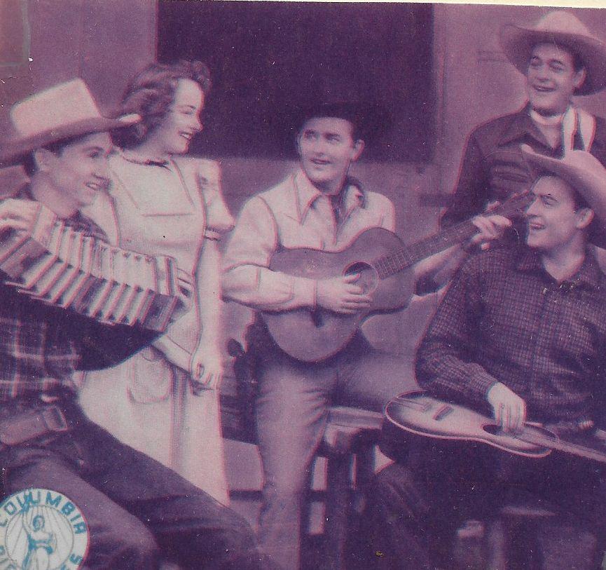 Johnny Bond, Scotty Harrel, Kay Harris, Charles Starrett, Jimmy Wakely, and Jimmy Wakely Trio in Robin Hood of the Range (1943)