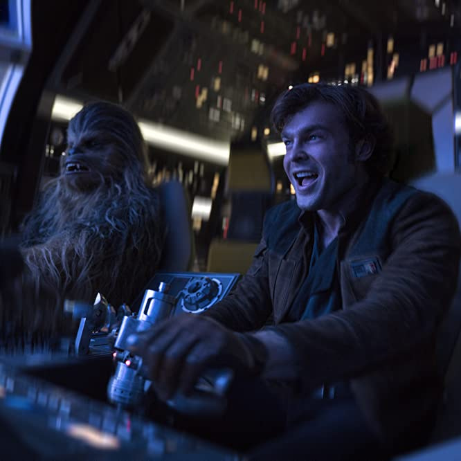 Alden Ehrenreich and Joonas Suotamo in Solo: A Star Wars Story (2018)