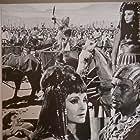 Pierre Cressoy, Yvonne Furneaux, and Rosalba Neri in Il Leone di Tebe (1964)